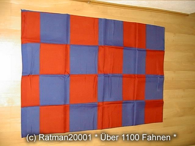 Karo Blau Rot - 98 x 140