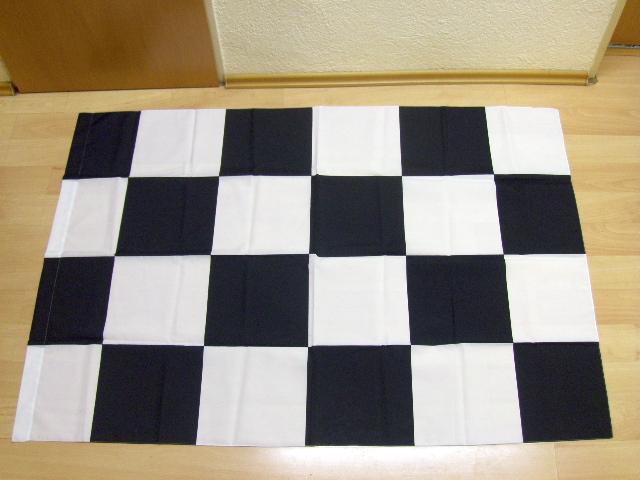 Karo Schwarz Weiß - 98 x 140 cm